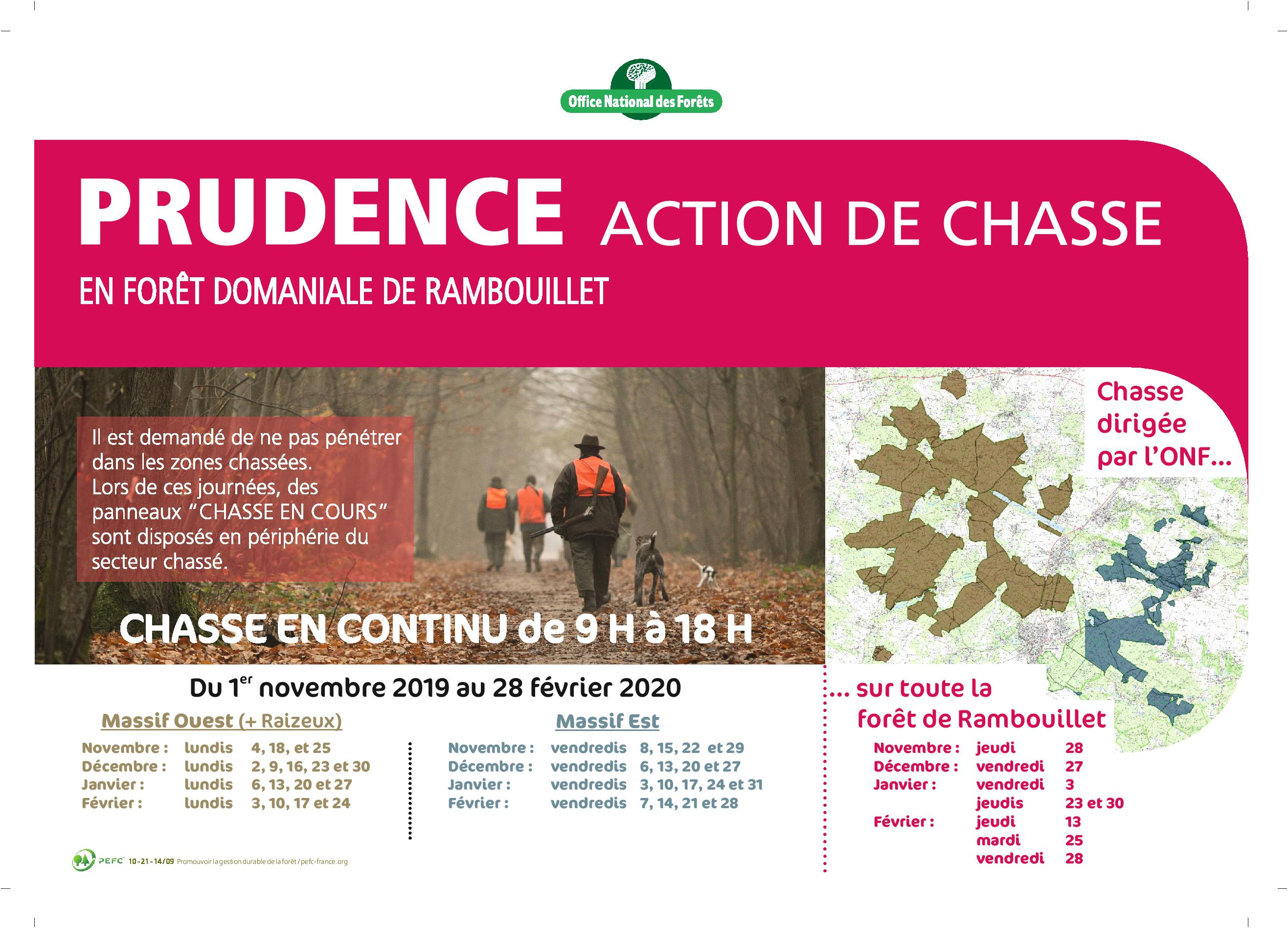 AFFICHE chasse 2019 2020 Rambouillet VDEF page 001